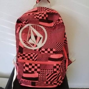Volcom neon pink backpack